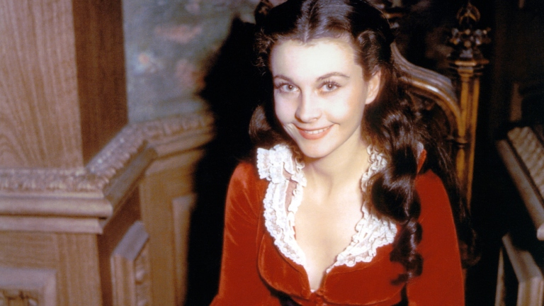 Vivien Leigh on the Set of Gone with the Wind