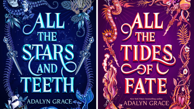 The Covers for All the Stars and Teeth and All the tides of Fate