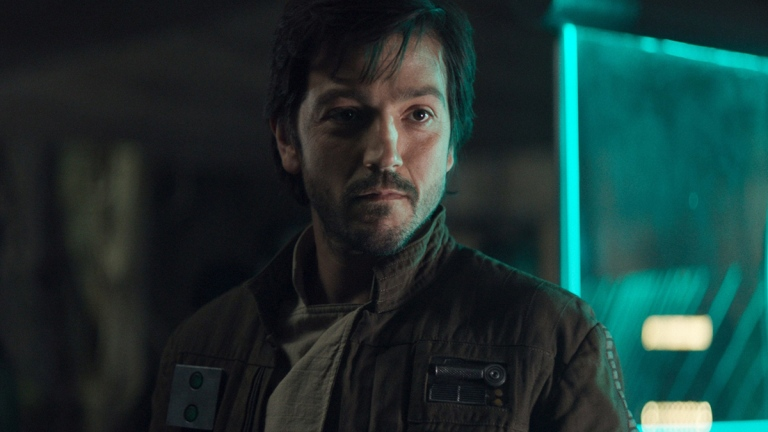 Diego Luna as Cassian Andor in Rogue: One A Star Wars Story