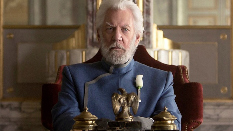 Donald Sutherland as President Snow in The Hunger Games: Mockingjay - Part 1