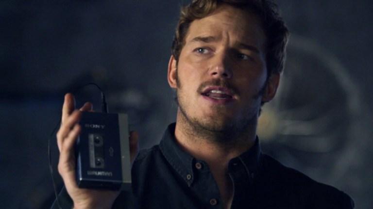 Chris Pratt As Peter Quill Holding A Walkman