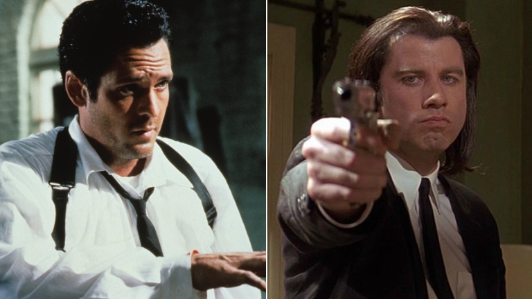Michael Madsen in Reservoir Dogs, and John Travolta in Pulp Fiction
