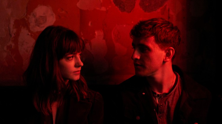 Marianne and Connell in Normal People on Hulu