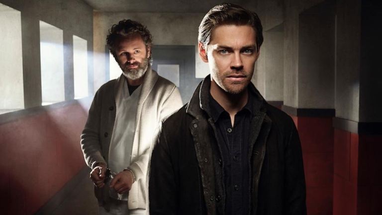 Tom Payne and Michael Sheen on Prodigal Son