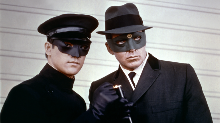 Bruce Lee as Kato and Van Williams as The Green Hornet