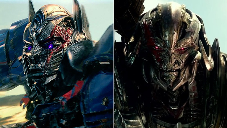Optimus Prime and Megatron in Transformers: The Last Knight