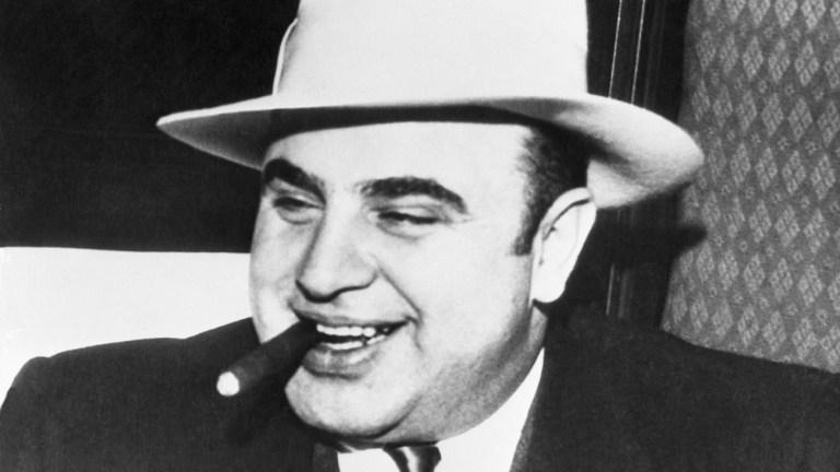 Al Capone with a Cigar