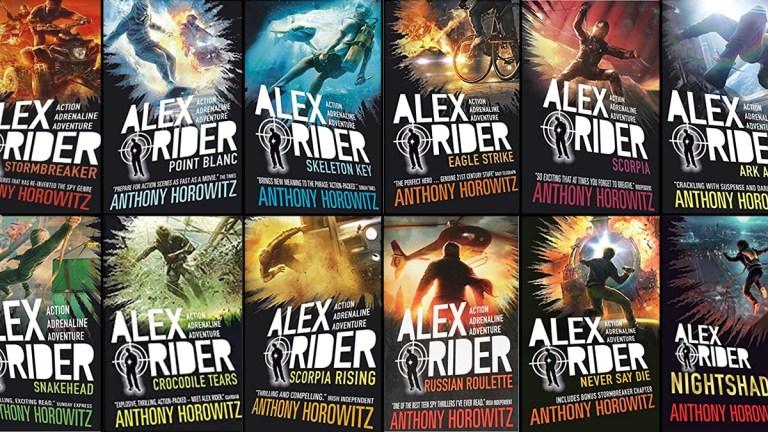 Alex Rider book covers composite