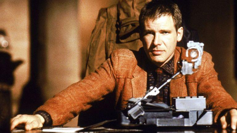 Harrison Ford testing replicants in Blade Runner