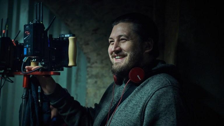 Gareth Evans on set of Gangs Of London