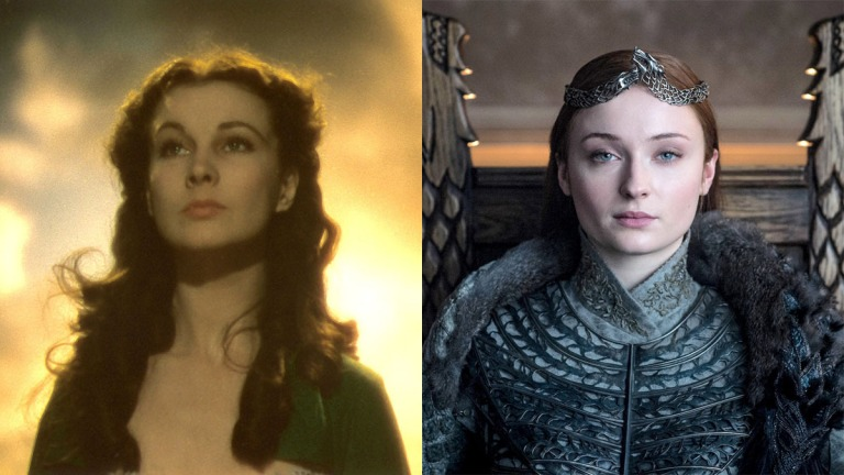 Sansa Stark and Scarlett O'Hara in Game of Thrones and Gone with the Wind