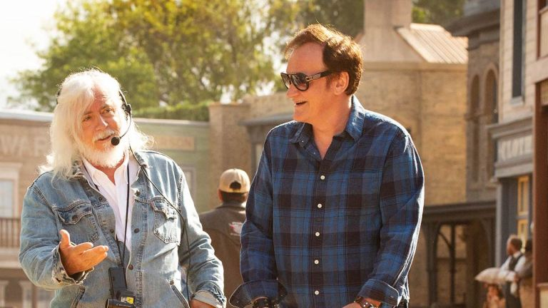 Quentin Tarantino and Bob Richardson on Once Upon a Time in Hollywood set