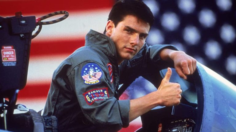 Tom Cruise gives thumbs up in Top Gun