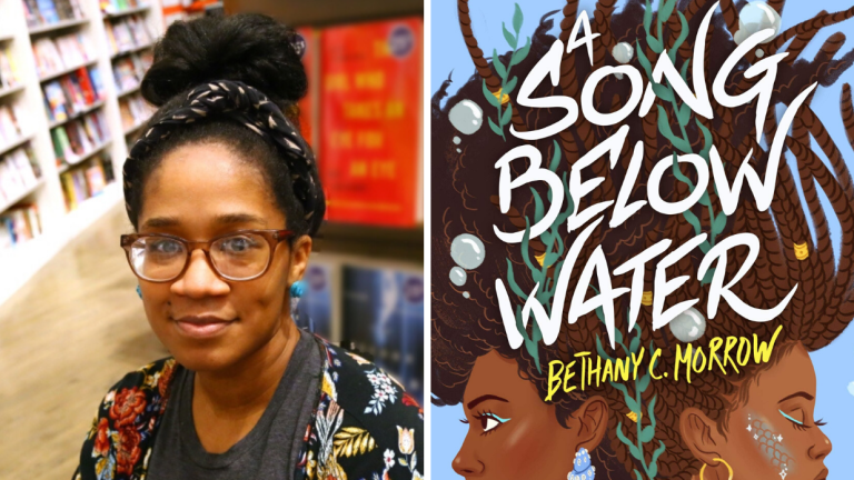 Author Bethany C. Morrow and her book A Song Below Water