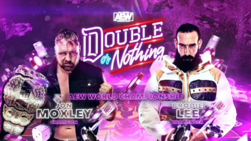 Jon Moxley defends the AEW World Championship against Brodie Lee at AEW Double or Nothing 2020
