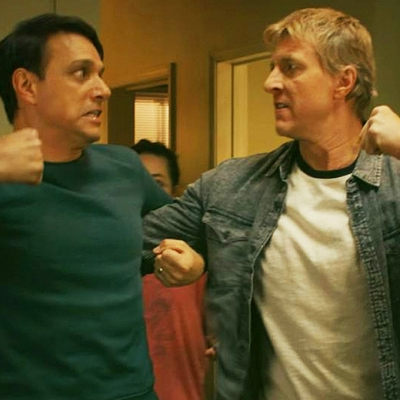 Ralph Macchio and William Zabka on Cobra Kai