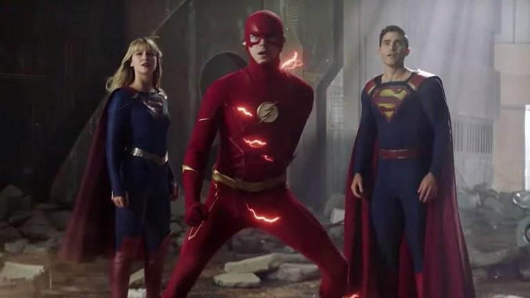 Melissa Benoist, Grant Gustin and Tyler Hoechlin on The CW's Crisis on Infinite Earths