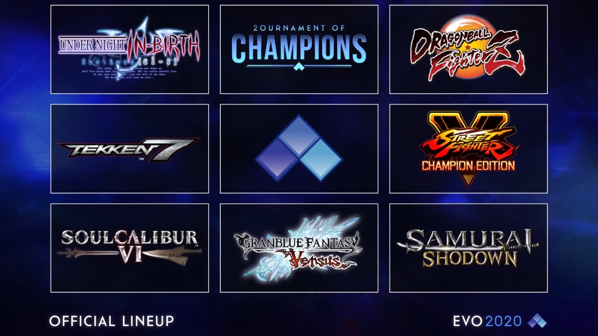 Evo 2020 Changed to Evo Online, Four Games Added to Lineup