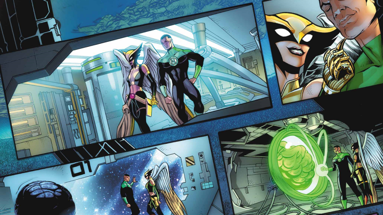 John Stewart Green Lantern and Hawkgirl