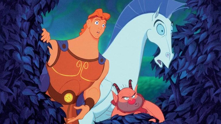 Hercules, Pegasus and Phil in Disney's Hercules