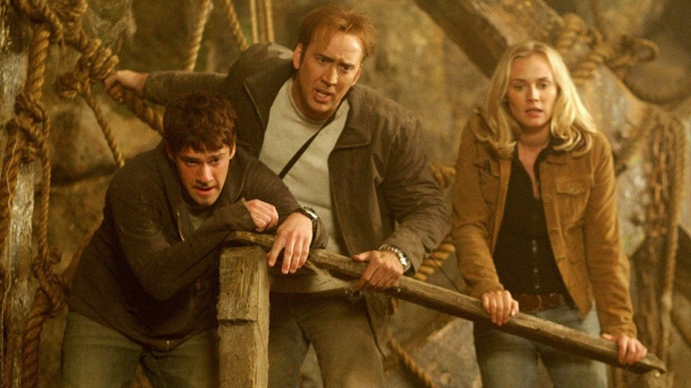 Justin Bartha, Nicolas Cage and Diane Kruger in National Treasure: Book of Secrets