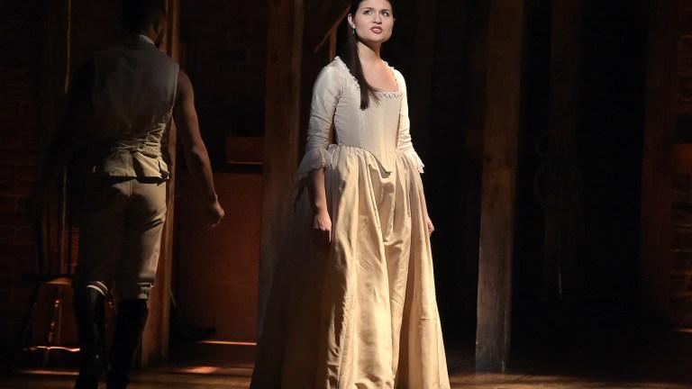 Phillipa Soo as Eliza in Hamilton