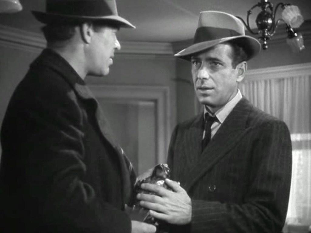 Humphrey Bogart in The Maltese Falcon Ending