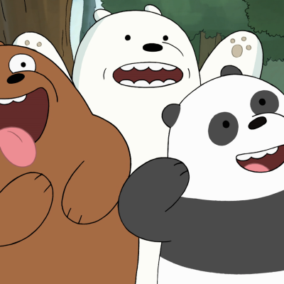 Grizz, Panda, and Ice Bear in the We Bare Bears Movie