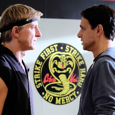 William Zabka and Ralph Macchio on Cobra Kai