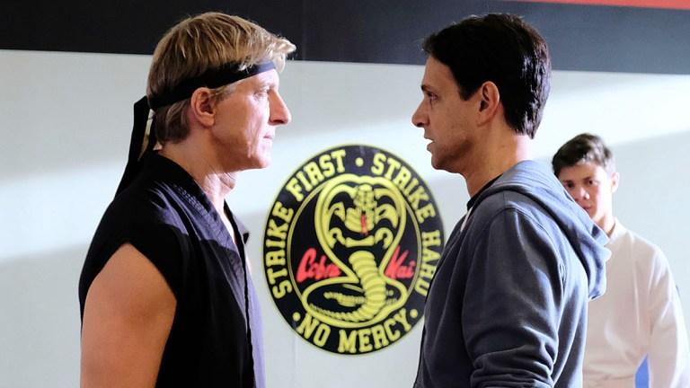 William Zabka and Ralph Macchio on Cobra Kai