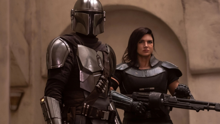 Pedro Pascal and Gina Carano on The Mandalorian