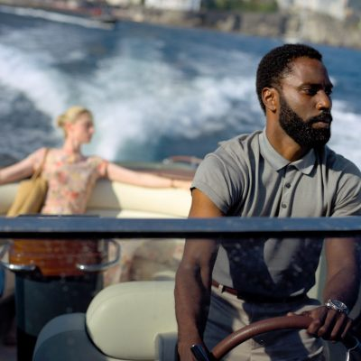 John David Washington and Elizabeth Debicki in Christopher Nolan's Tenet
