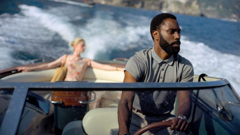 John David Washington and Elizabeth Debicki in Christopher Nolan's Tenet