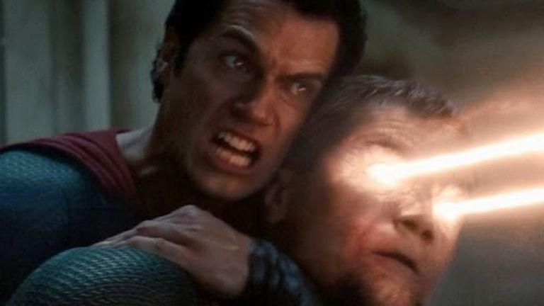 Henry Cavill and Michael Shannon in Man of Steel