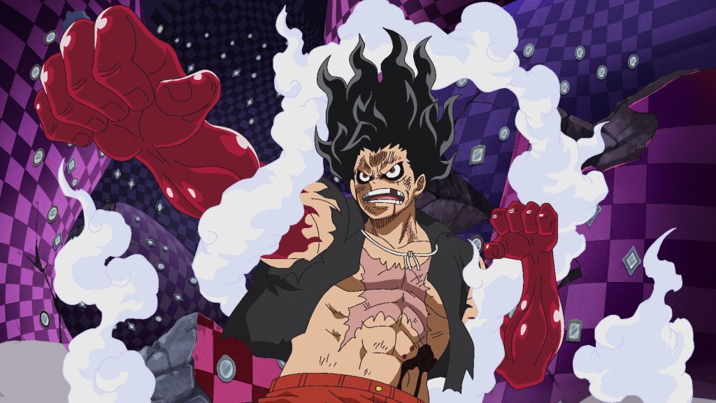 "One Piece - ""A Fist of Divine Speed! Another Gear Four Application Activated!"""