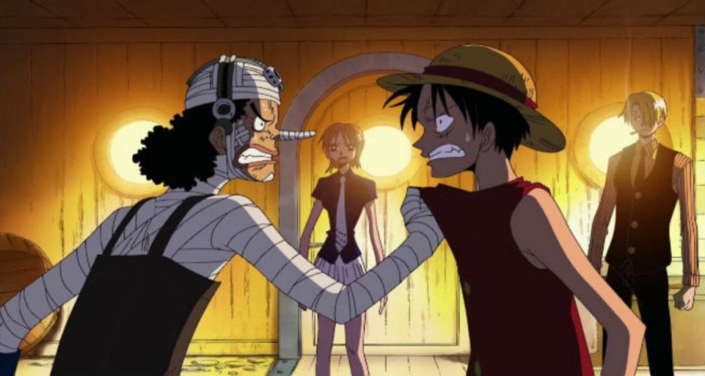 "One Piece - ""Luffy Vs. Usopp! Collision of Two Men's Pride!"""