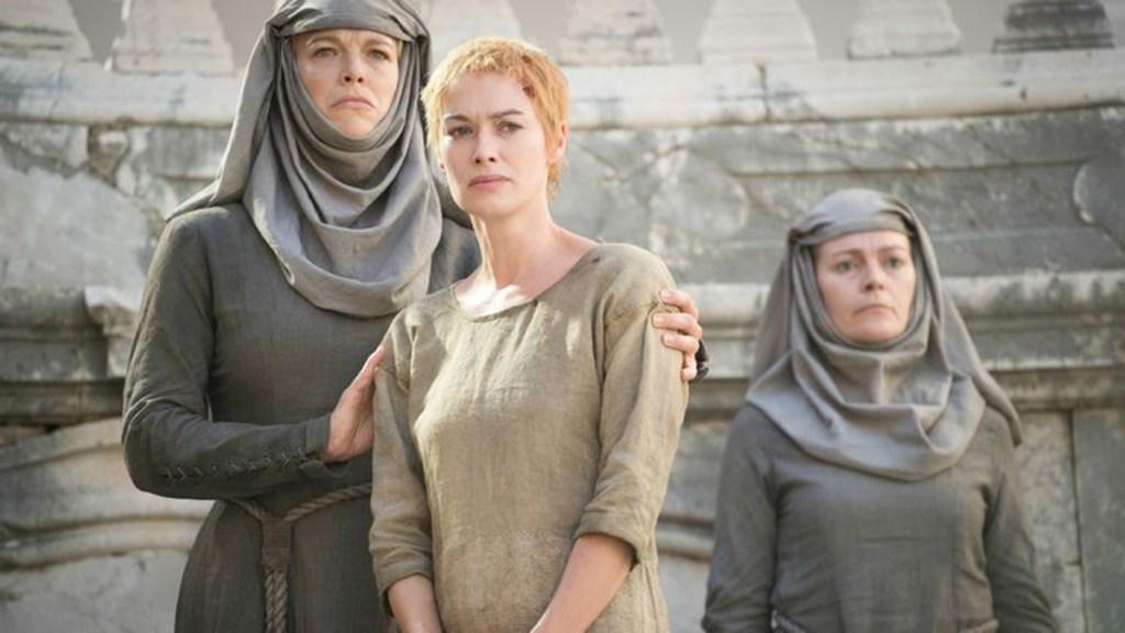 El camino de la vergüenza de Septa Unella y Cersei