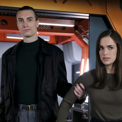 Young Garrett and Simmons in Agents of SHIELD