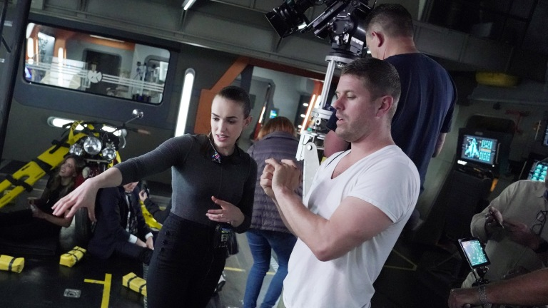 Elizabeth Henstridge directing Agents of SHIELD