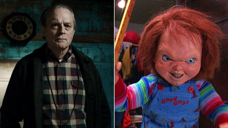 Brad Dourif in Wildling; Chucky in Child's Play