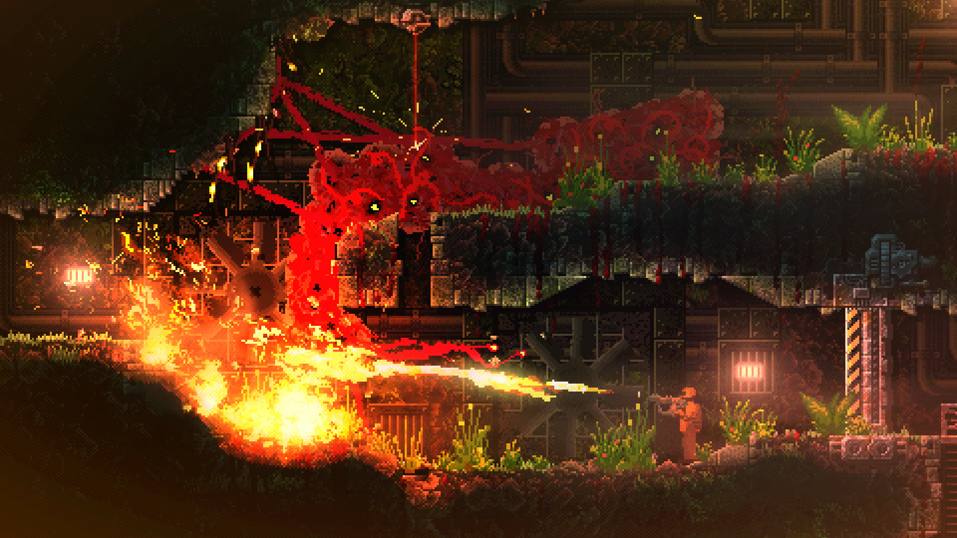 Carrion Review A Brilliant Horror Game Where You Are The Monster
