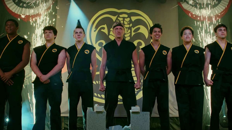 William Zabka and the Cobra Kai cast