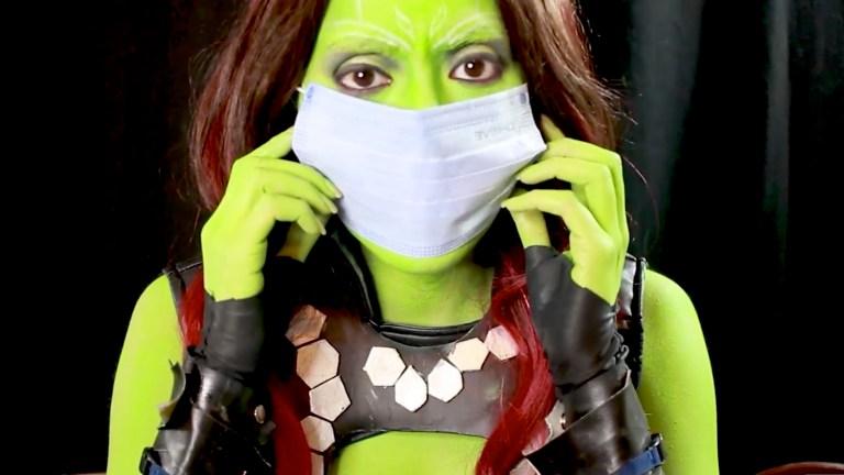 Comic-Con at Home Gamora Cosplay