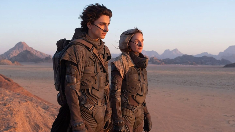 Timothée Chalamet and Rebecca Ferguson in Dune