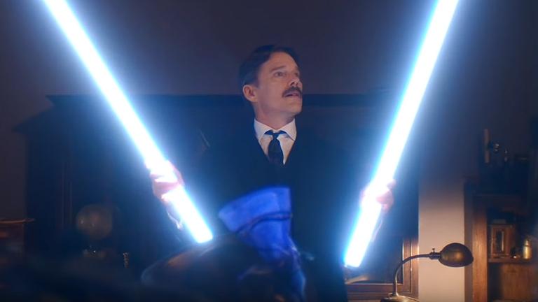 Ethan Hawke in Tesla