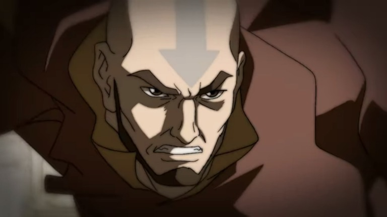 Why was Aang serious in The Legend of Korra?