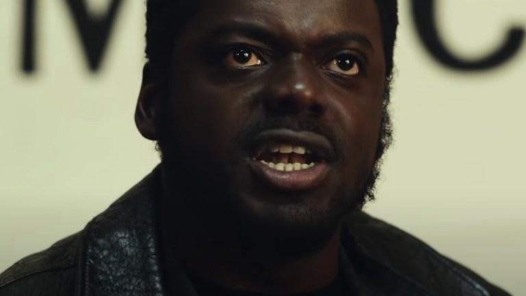 Daniel Kaluuya as Fred Hampton giving a speech in Judas and the Black Messiah