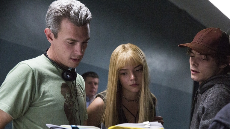 Josh Boone, Anya Taylor-Joy and Charlie Heaton on the set of The New Mutants