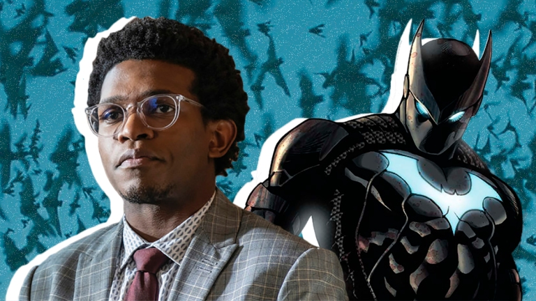 Camrus Johnson as Luke Fox on Batwoman and DC Comics Batwing