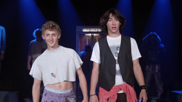 Bill and Ted being excellent in 1989 movie